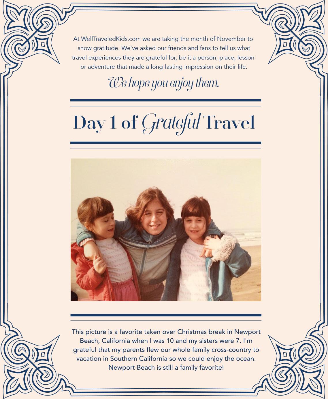 30 Days Of Grateful Travel - Day 1
