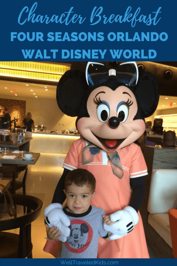 Disney character breakfast at Four Seasons Orlando