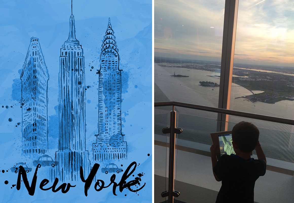 Extraordinary Views from New York's One World Observatory - NYC with Kids | Stuff to do with kids in New York City | Best New York City Activities with kids