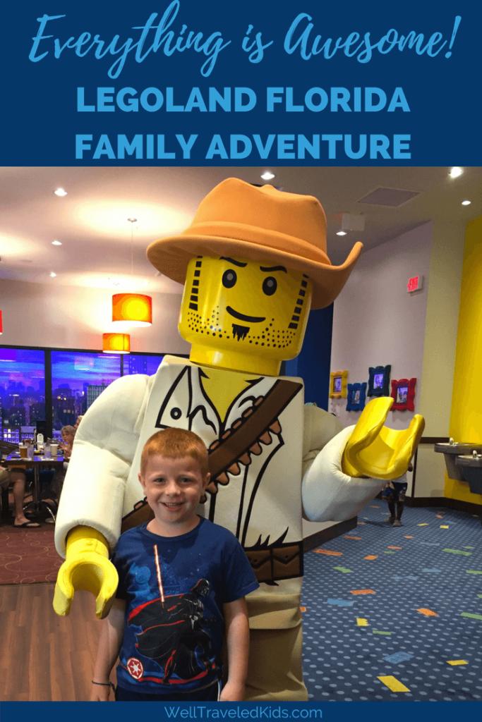 Lego characters at Legoland Florida Resort