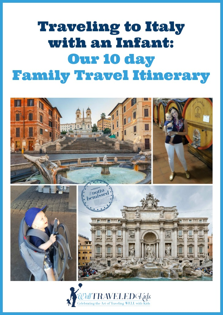 Traveling to Italy with an Infant: 10 day family travel Itinerary for traveling with a baby to Italy | Italy with baby | Italy with kids | family trip to Italy | traveling with baby to Italy