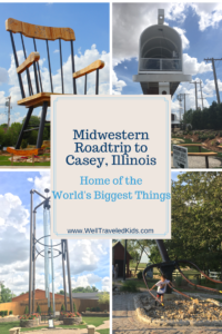 Midwestern Road Trip to Casey, Illinois: A Small Town with Big Stuff Means Lots of Travel Fun for Kids *********************** Casey Illinois | Weekend Getaway | Small Town Big Stuff | midwest roadtrip| family roadtrip | World's Largest | Illinois road trip| Roadside Americana | roadside attractions | road trips from Chicago