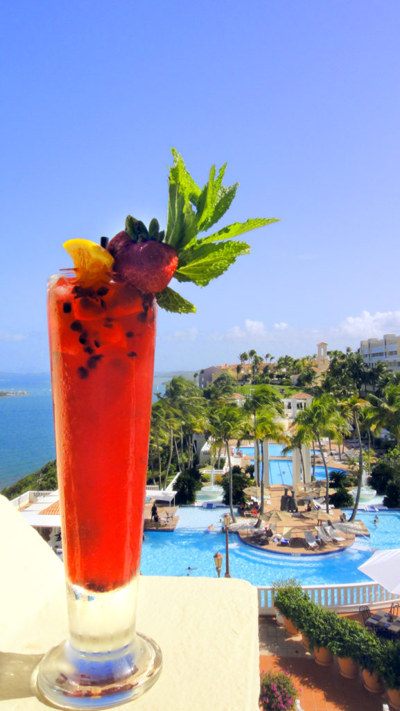 BEST EVER Vacation Cocktail Recipe: Rum Punch from Drake's Bacardi Rum Bar at El Conquistador, A Waldorf Astoria Resort in Puerto Rico