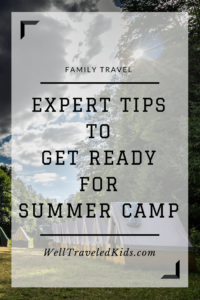 Tips to get ready for summer camp