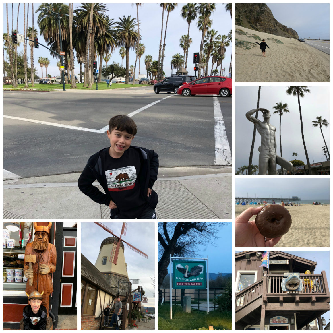 California road trip to Newport beach, Santa Barbara, and Solvang with kids