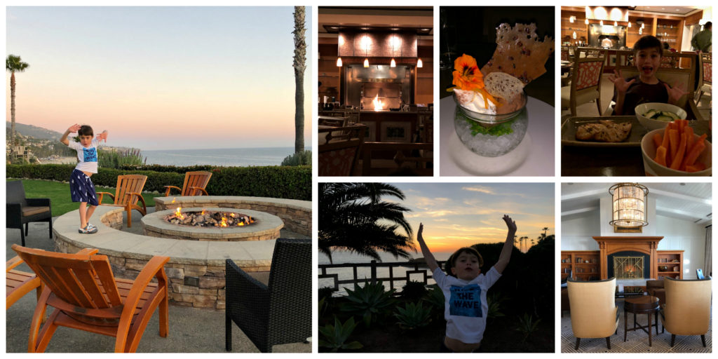 Dinner at the loft Montage Laguna Beach with kids- well traveled kids