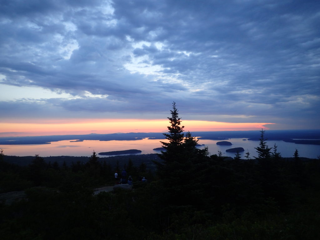 Cadillac Mountain Trail Summit Sunrise with kids Bar Harbor