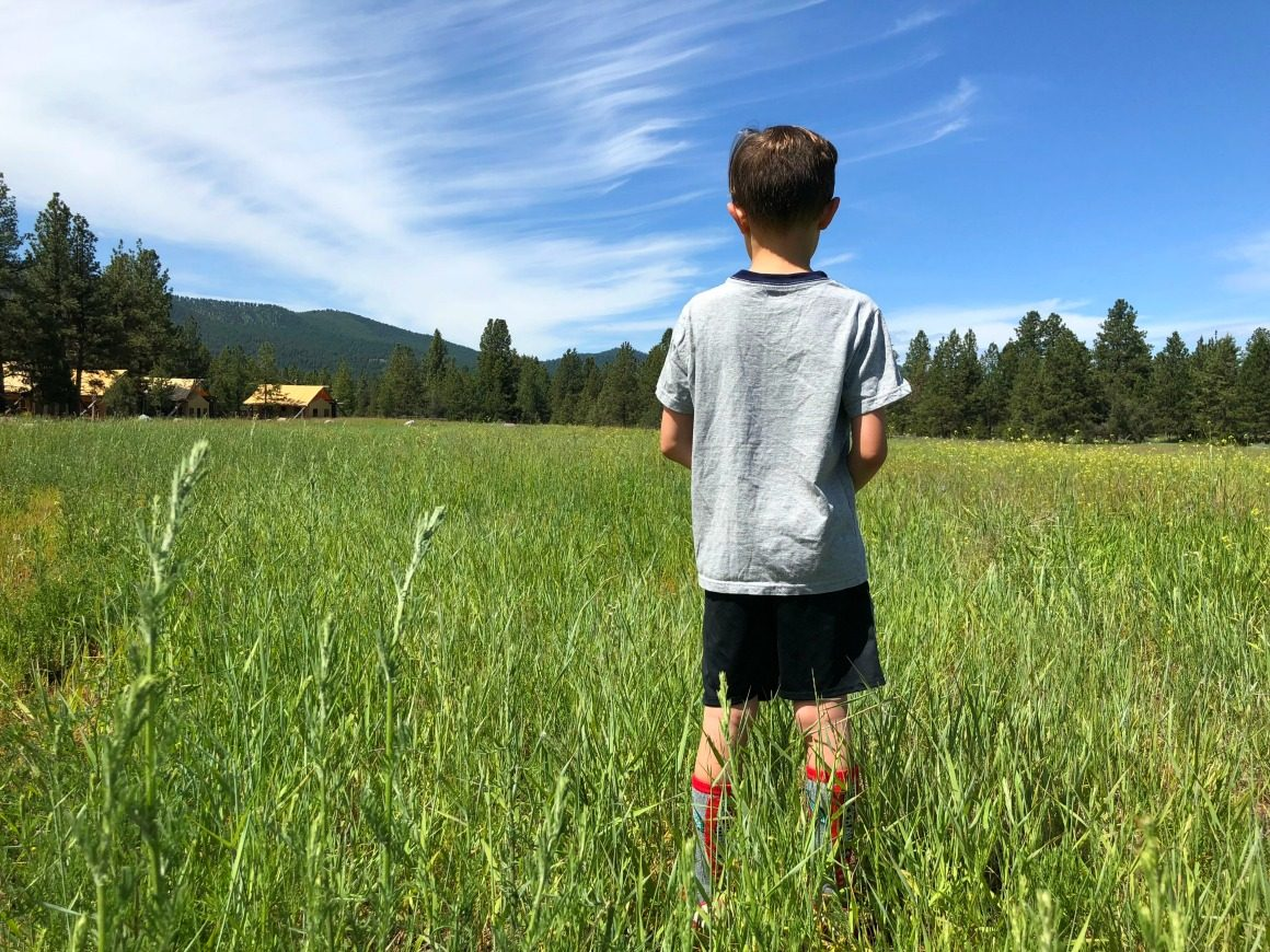 glamping in Montana - well traveled kids