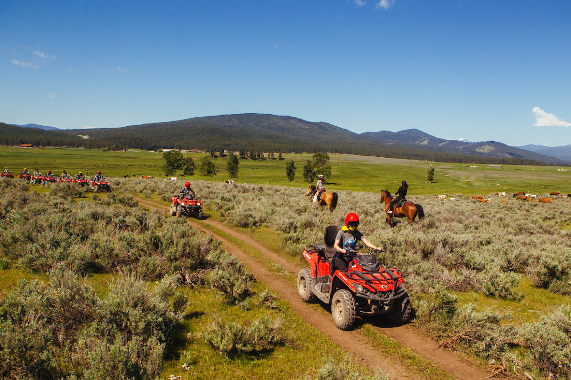 atv and horses at Paws Up