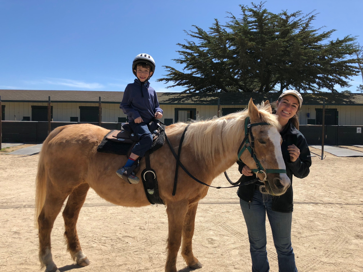 Pebble Beach Horseback riding for kids - Well Traveled Kids