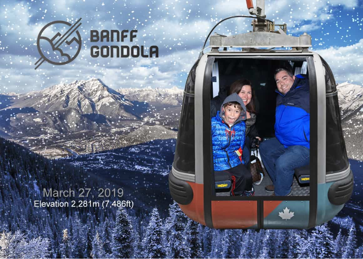 Riding the Banff Gondola with kids