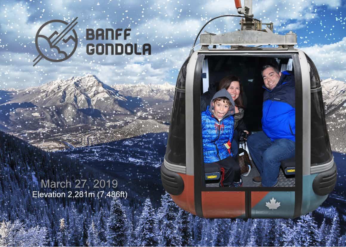 Riding the Banff Gondola with kids